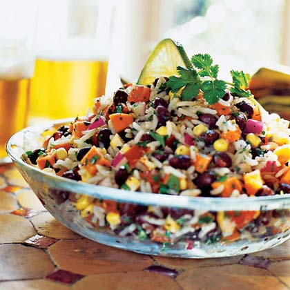 Black Bean, Rice, and Veggie Salad Recipe | MyRecipes