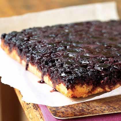 Cherry-Almond Upside-Down Cake