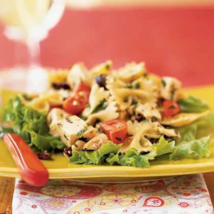 Chicken and Farfalle Salad with Walnut Pesto