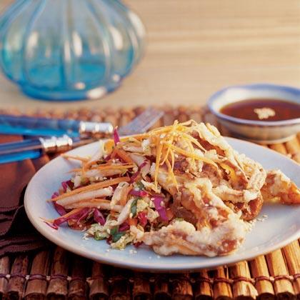 Tempura Soft Shell Crab With Asian Slaw Recipe Myrecipes