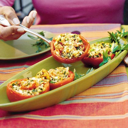 Feta-Stuffed Tomatoes Recipe
