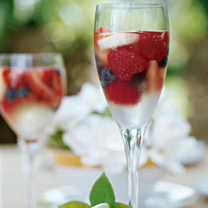 Sparkling Fruit Gelées RecipeDazzle your guests with this grown-up gelatin dessert. Sparkling wine enhances the sweetness of the fresh summer fruit.