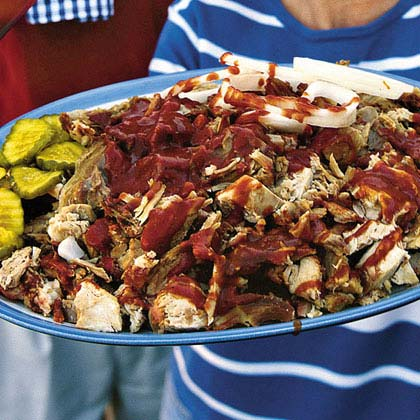 Slow-Grilled Pork With Ranch-Barbecue Sauce