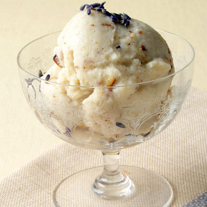 Lavender and Toasted Almond Ice Cream with Warm Figs