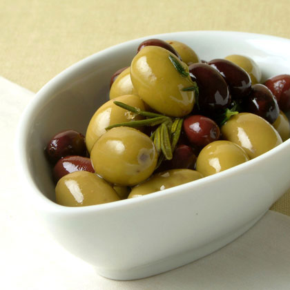 Warm Olives with Wild Herbs Recipe