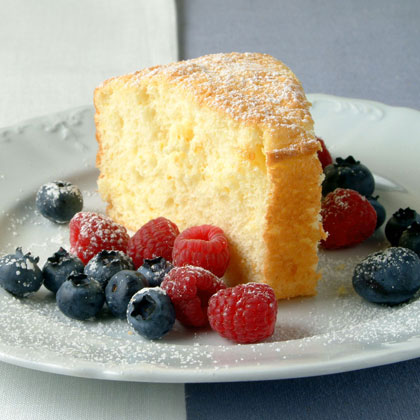 Orange Cake with Fresh Berries Recipe