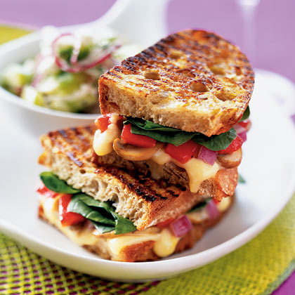 Panini With Sautéed Mushrooms and Gruyère Recipe | MyRecipes