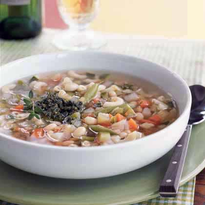 Vegetable Soup with PistouRecipe