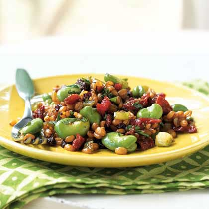 Spelt Salad with Fava Beans