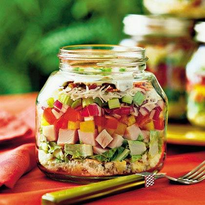 Layered Cornbread-and-Turkey Salad