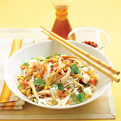 Asian Chicken and Rice Noodle SaladRecipe