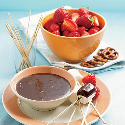 Microwave Chocolate FondueRecipe