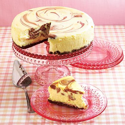 Black and White Marble Cheesecake