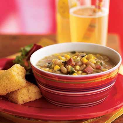 <p>Summer Corn and White Bean Soup</p>