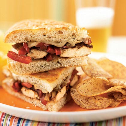 Balsamic-Glazed Chicken and Bell Pepper Sandwiches