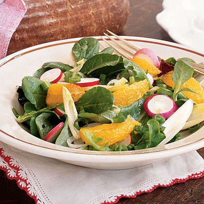 Green Salad Scented with Sesame Oil Recipe