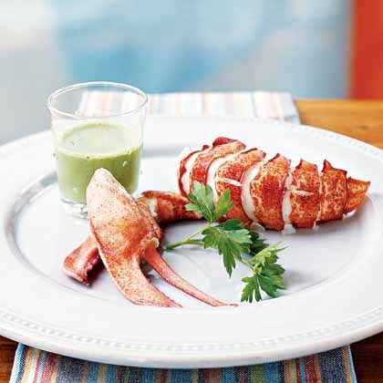 Steamed Lobster with Parsley EmulsionRecipe
