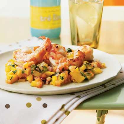 Shrimp Cocktail with Tropical Fruit Salsa