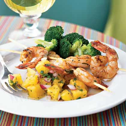 <p>Shrimp Sate with Pineapple Salsa</p>