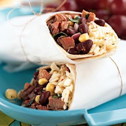 Southwestern Steak, Corn, and Black Bean Wraps