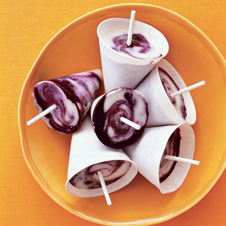 Lemon-Blueberry Twist Pops Recipe