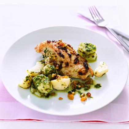 Chicken with Pesto Potatoes Recipe