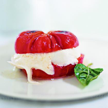 Tomato and Mozzarella Burger