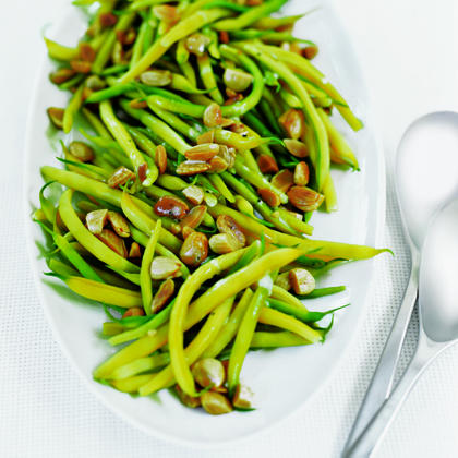 Yellow Wax Beans with Toasted Almonds