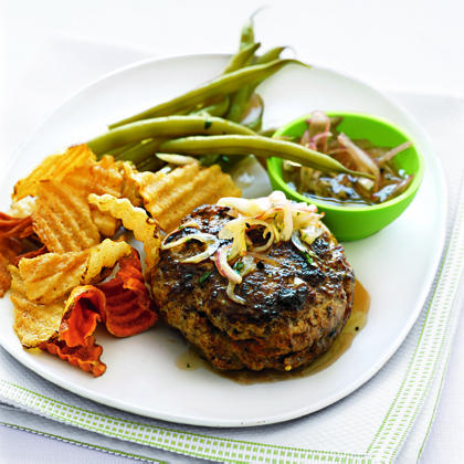 Hamburgers with Lemon and Soy Sauce