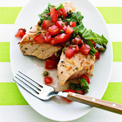 Grilled Tuna with Tomato Salsa