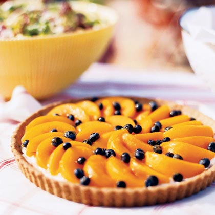 Blueberry-Peach Tart