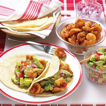 Shrimp-Avocado Tacos