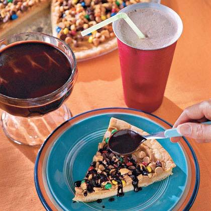 Chocolate-Peanut Butter Pizza