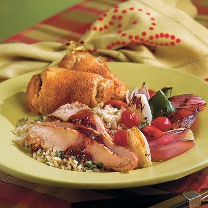 Jerk Turkey Tenderloin With Raspberry-Chipotle Sauce Recipe