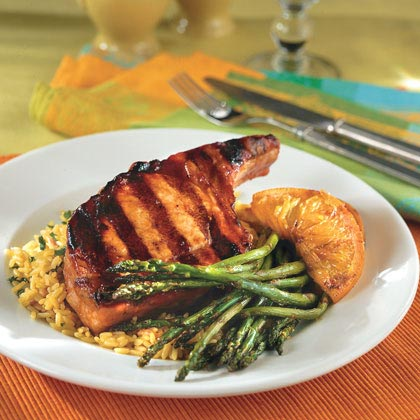 Saucy Pork Chops With Orange Slices Recipe