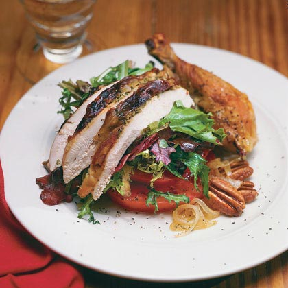 Tom's Roasted Chicken With Wilted Salad Greens
