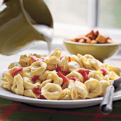 Roasted Red Pepper-Caesar Tortelloni