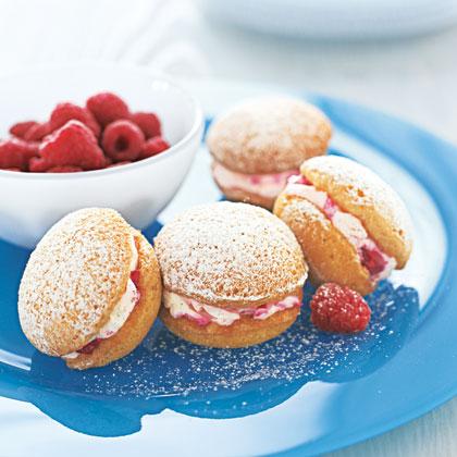Raspberry Powder Puffs Recipe