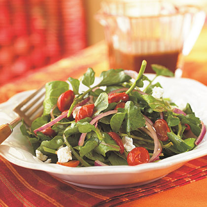 Arugula, Roasted Tomato, and Goat Cheese SaladRecipe