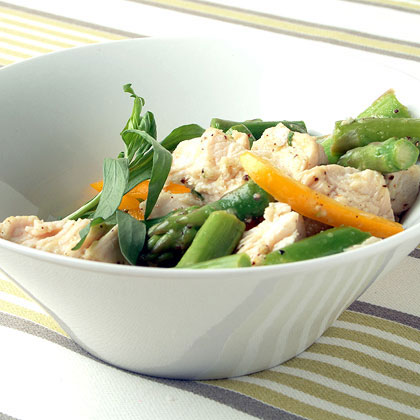 Poached Chicken and Asparagus SaladRecipe