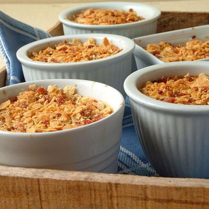 Individual Corn Custards with Bacon-Potato Crust