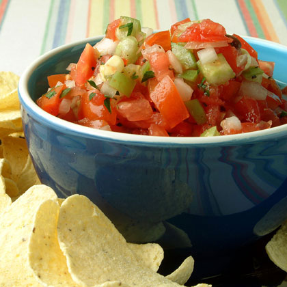 """I came up with this recipe when my crop of tomatoes was much more plentiful than I expected. It's delicious, healthful, and perfect for chips, baked potatoes, and grilled chicken."" -Sherri Matheson, Wadsworth, OHBean and Corn Salsa Recipe"