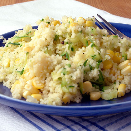Make the most of summer's corn and zucchini crop in this hearty side dish.Couscous and Summer Vegetable Sauté Recipe