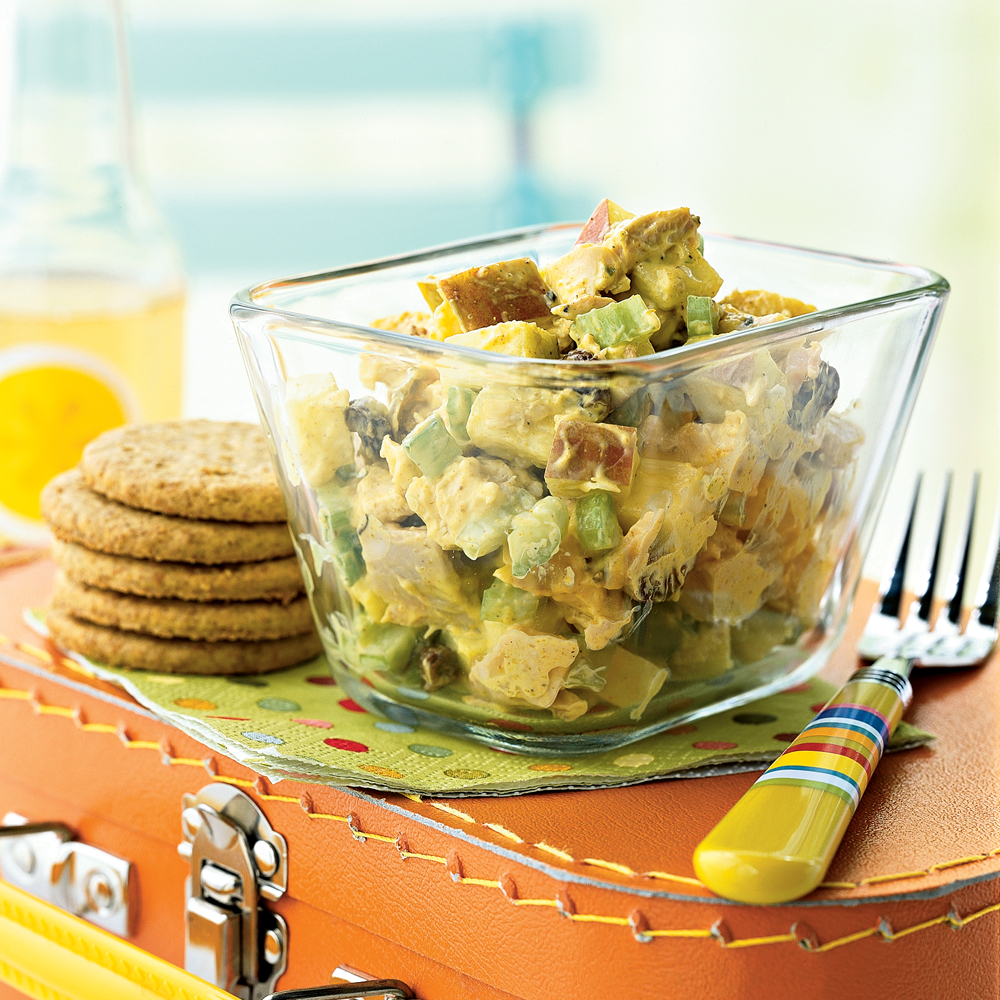 Curried chicken salad with apples and raisins recipe for Barbara seelig