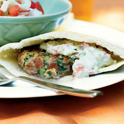 Southwestern Falafel with Avocado Spread