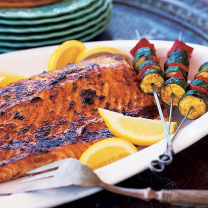 Grilled Salmon with Charmoula Recipe