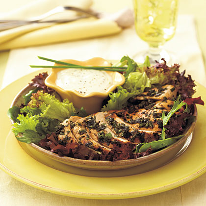 Grilled Herb-Coated Chicken BreastsRecipe
