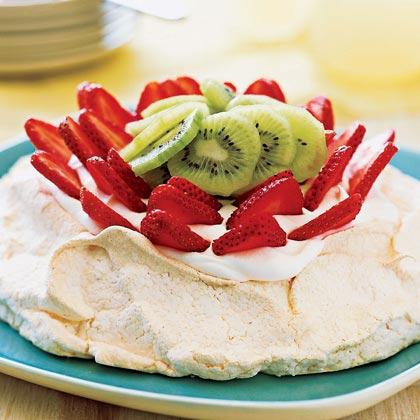 Strawberry-Kiwi Pavlova