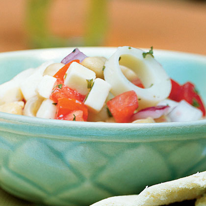 Chickpea and Hearts of Palm Salad