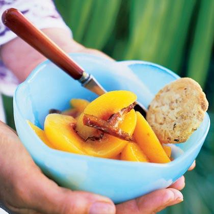 Peaches with Dates Recipe